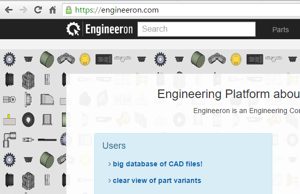 Engineering Community and CAD model database.